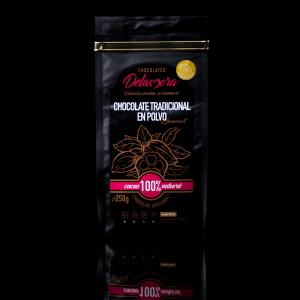 CHOCOLATE EN POLVO NARANJA Y CAFÉ